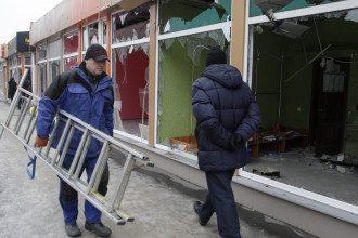 Донецк после обстрела, иллюстрация