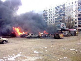 Последствия обстрела в Мариуполе, иллюстрация