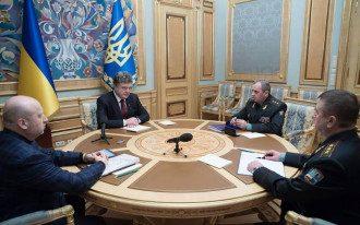 Совещание Порошенко с руководством армии
