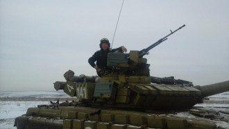 Украинский офицер-танкист Алексей Чабан