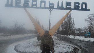 Семенченко на въезде в Дебальцево