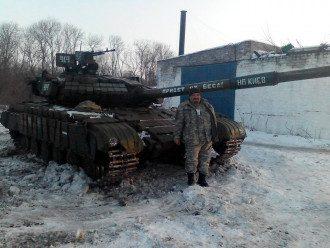 Боевик в районе Дебальцево