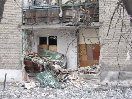 Результаты обстрелов боевиков на Донбассе, иллюстрация