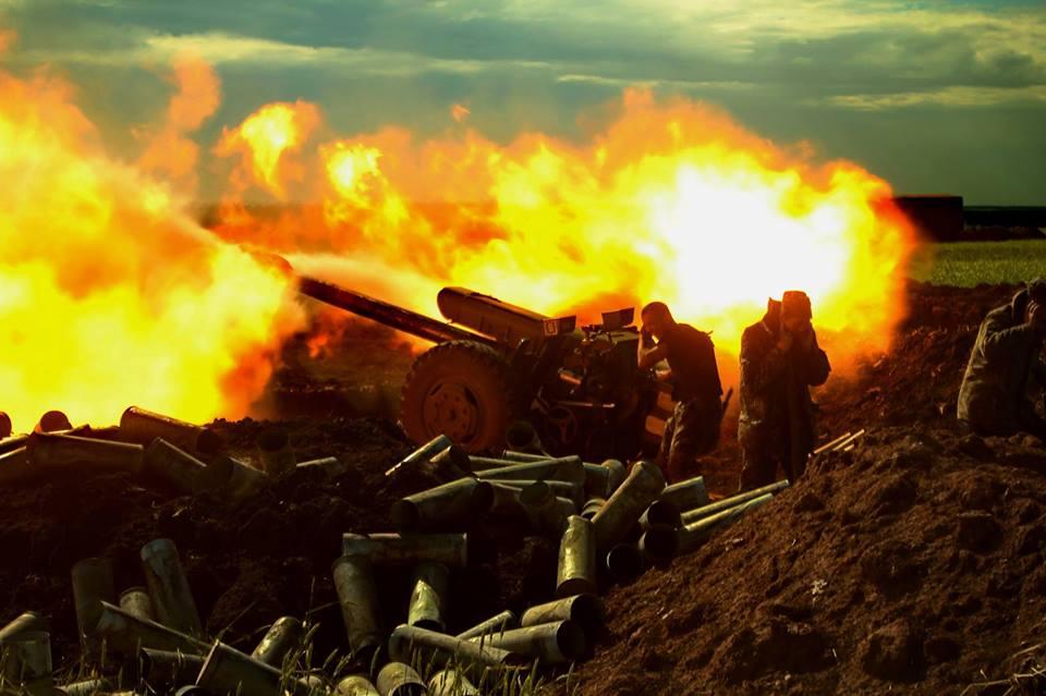Артиллерия боевиков взаимодействует с минометами