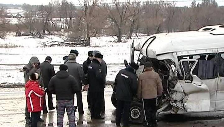 ДТП в Белгородской области, в которую попал украинский автобус, иллюстрация
