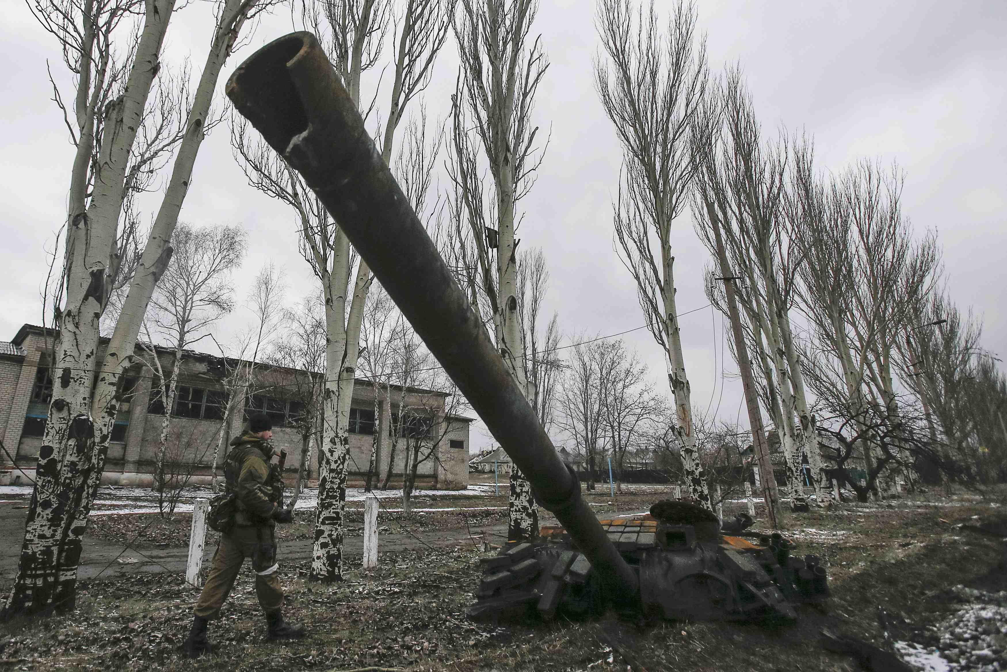 Уничтоженный российский танк