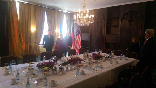 Встреча Порошенко, Меркель и Байдена