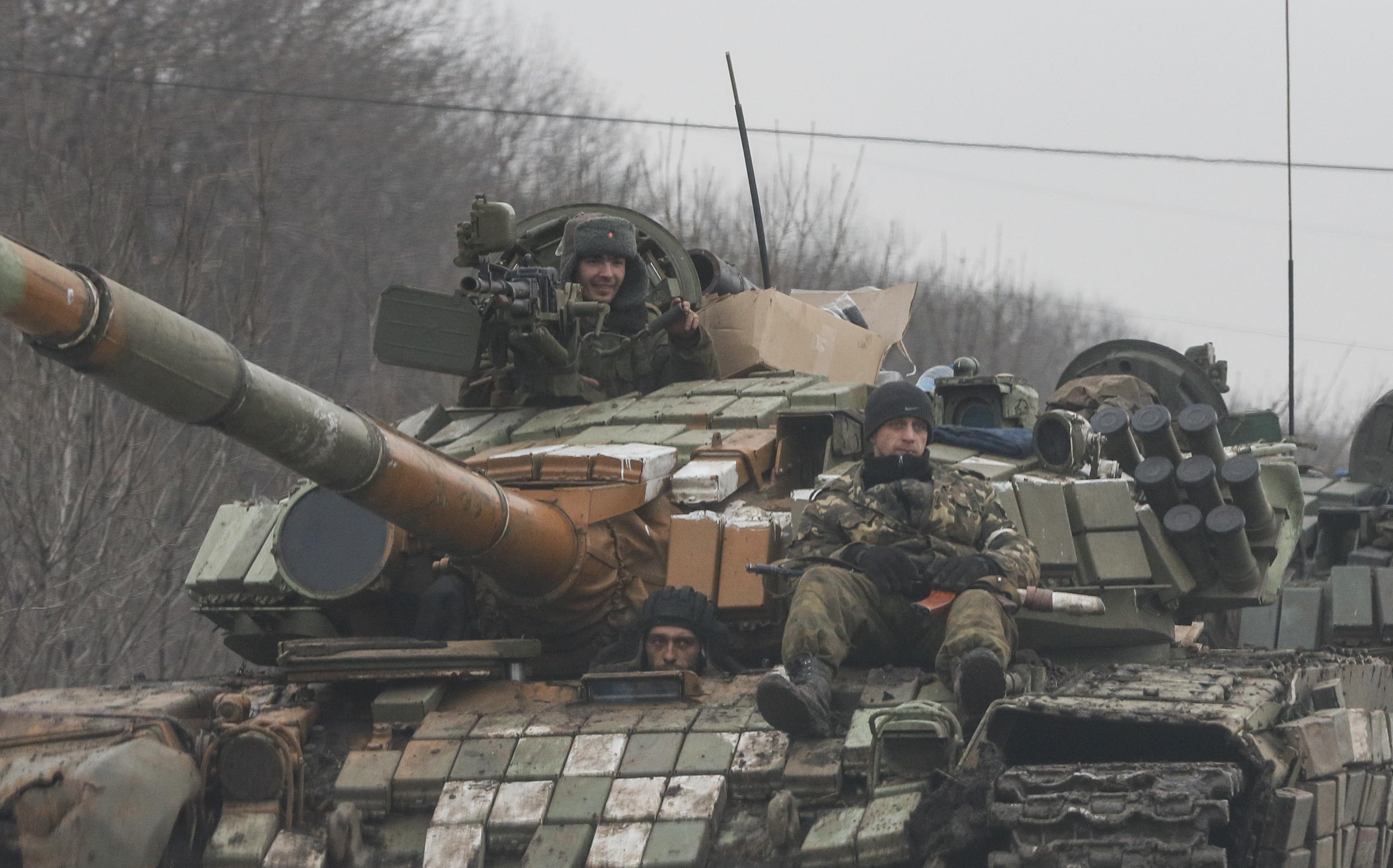 Танки боевиков под Углегорском, иллюстрация