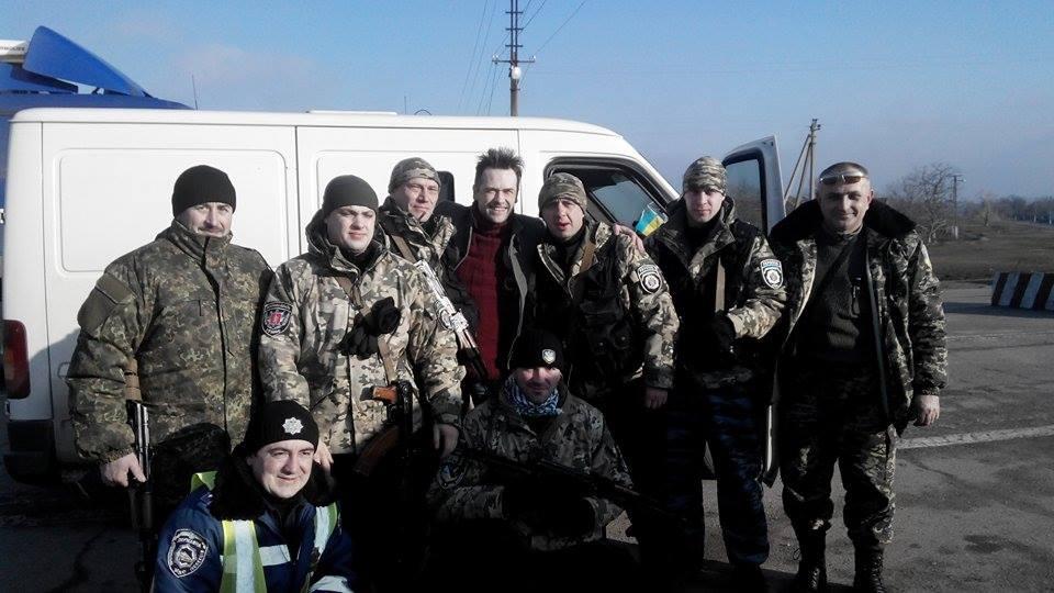 Пашинин встретился с украинскими военнослужащими на передовой