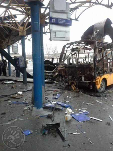 """Автобус """"Богдан"""" сгорел дотла вместе с водителем."""
