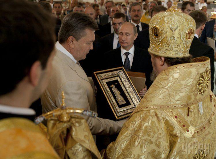 Путин и Янукович в Херсонесе