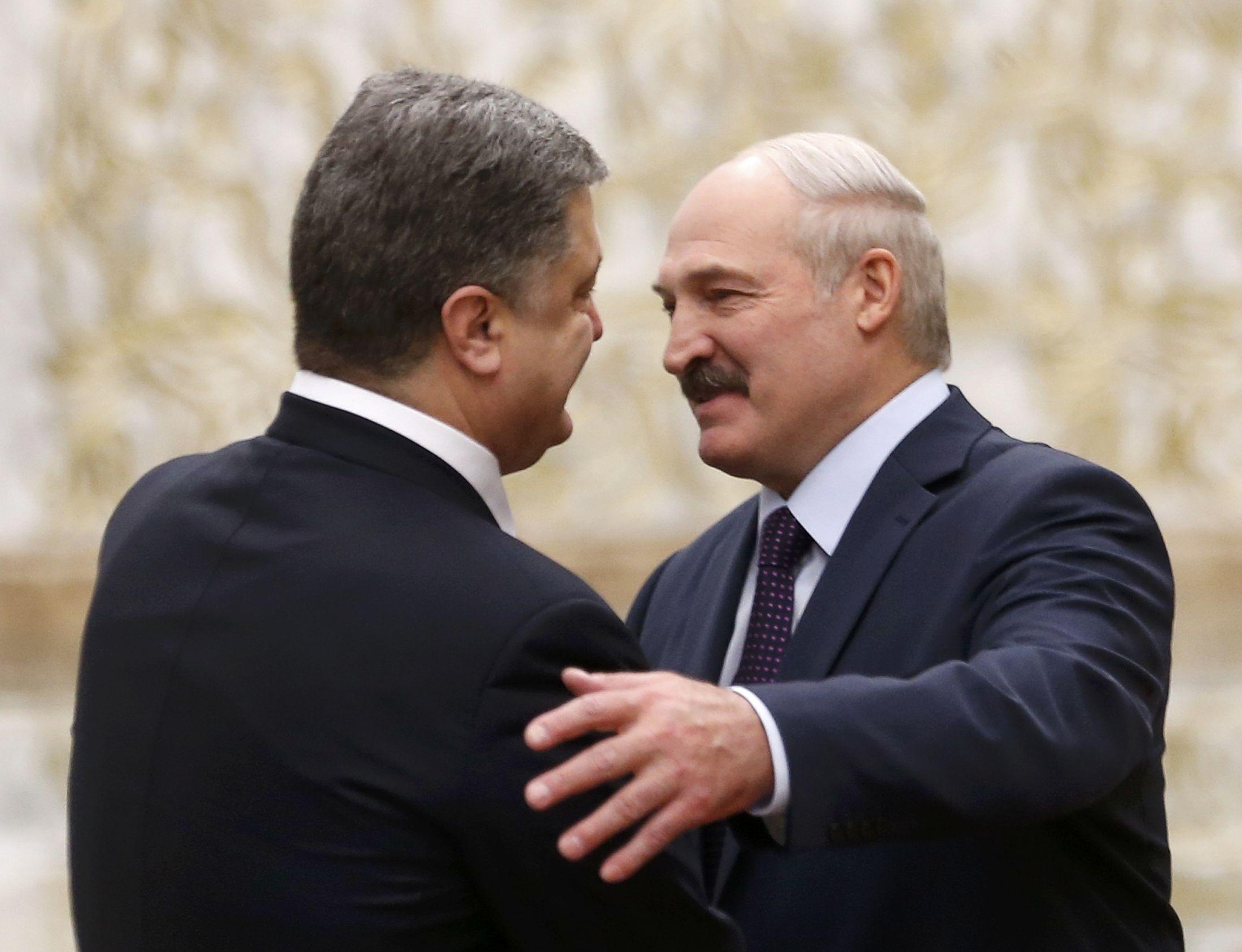 Порошенко, Лукашенко, Минск