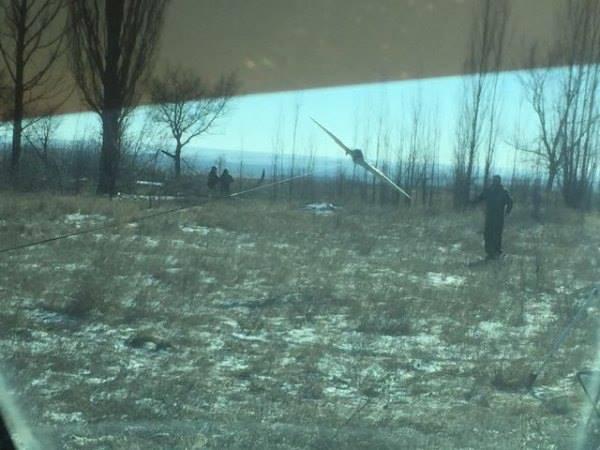 Беспилотник помог накрыть скопление боевиков под Дебальцево