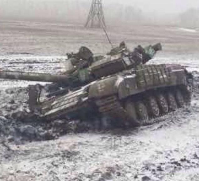 Партизаны под Углегорском уничтожили российский танк