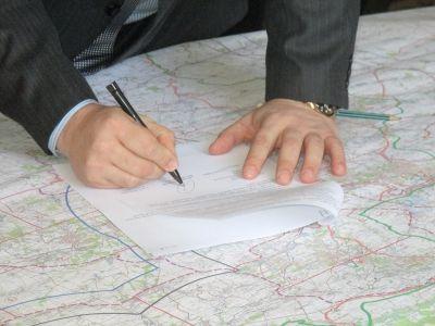 Подписание карты