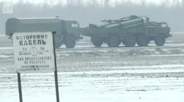 Российская техника на границе Украины, иллюстрация