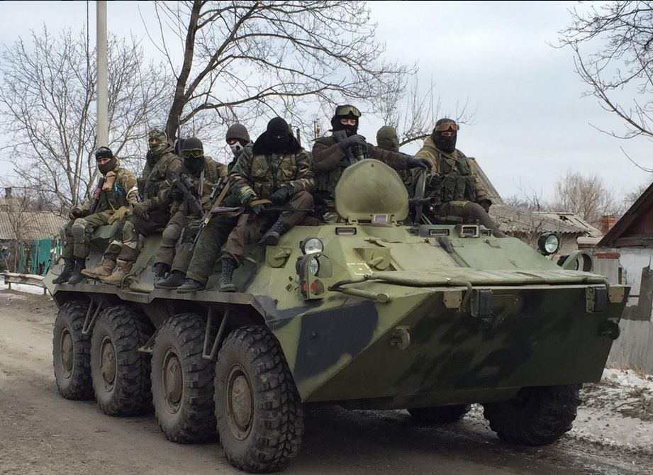 Российские боевики на Донбассе, иллюстрация
