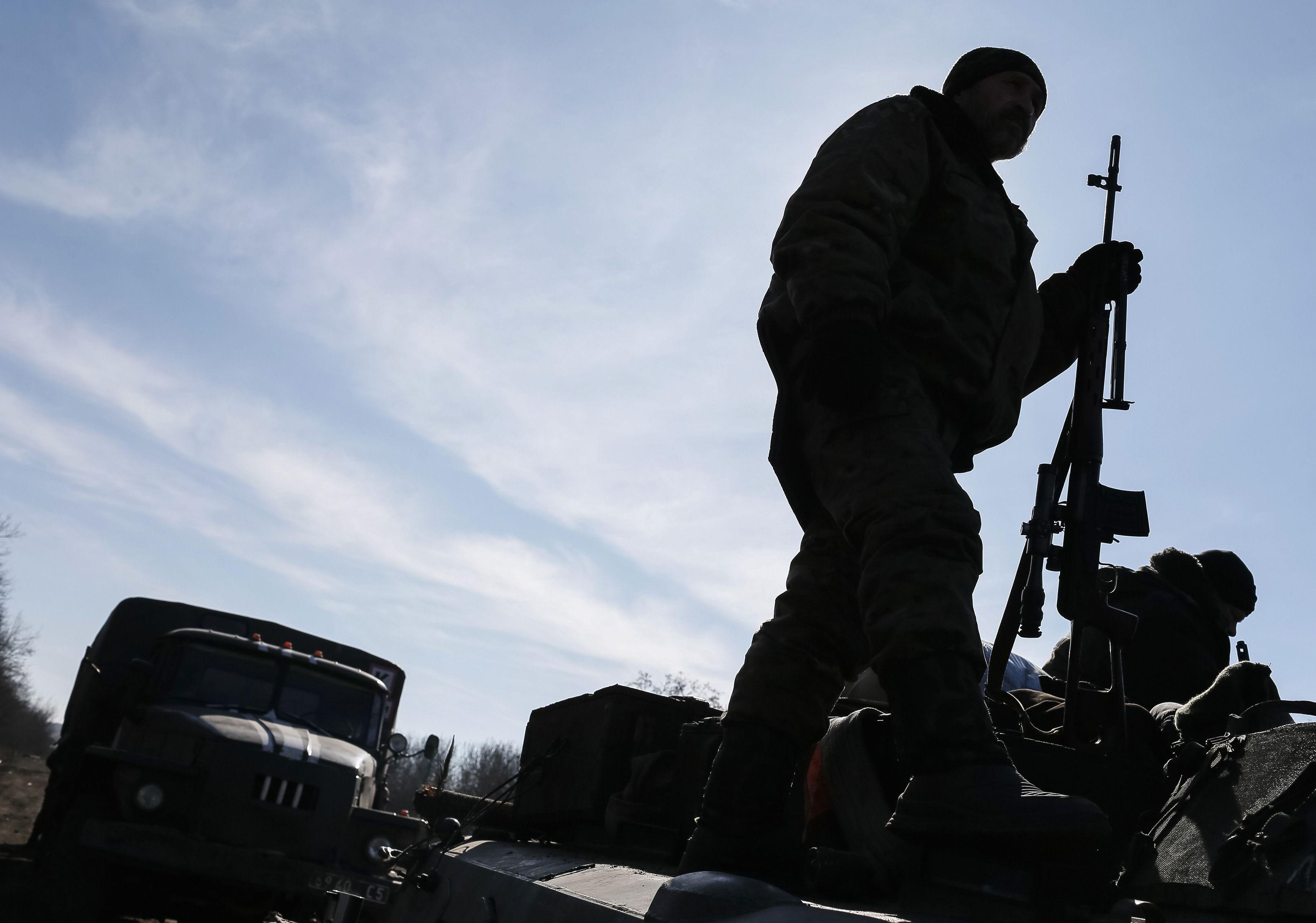 Украинский боец под Артемовском, иллюстрация