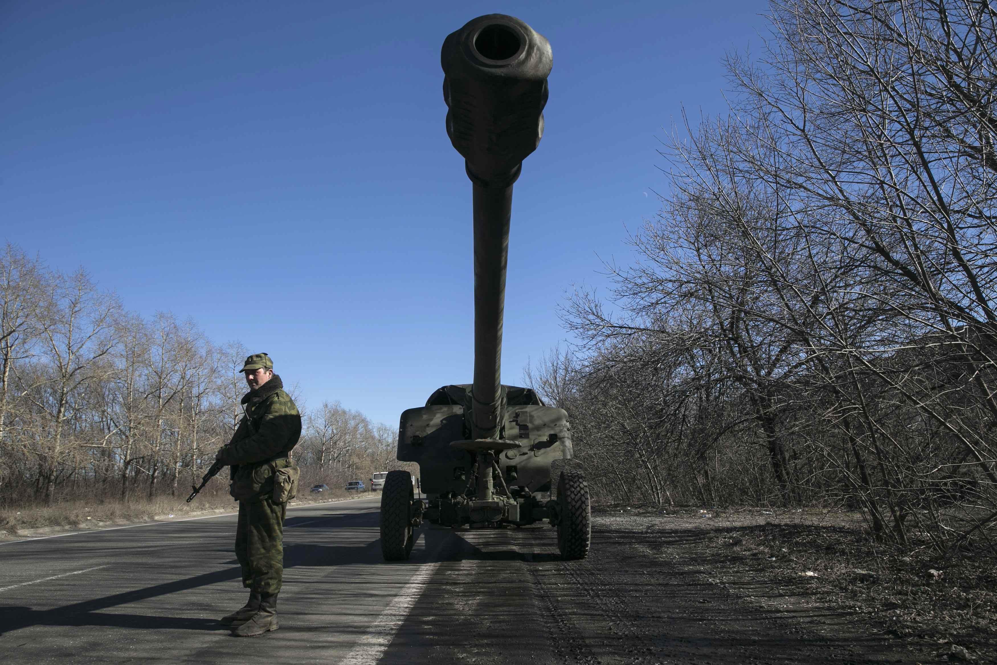 Артиллерия боевиков на Донбассе, иллюстрация