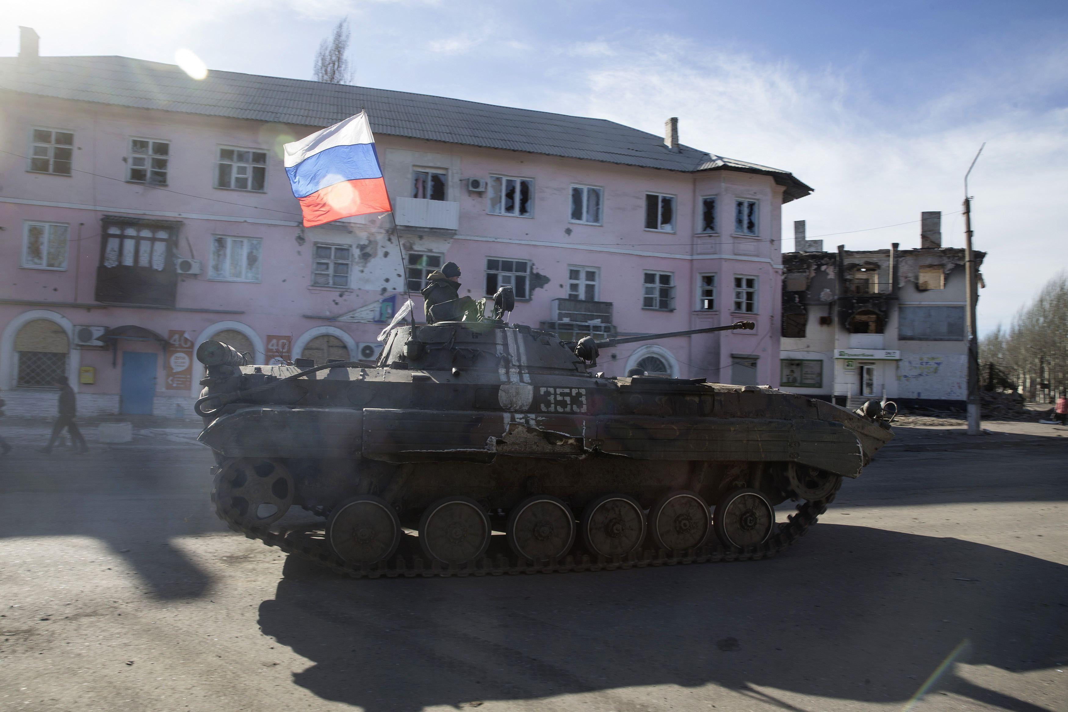 Вражеский БМП на Донбассе