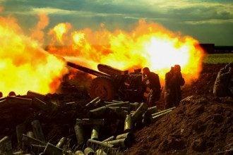Огонь украинской артиллерии, иллюстрация