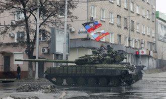 Российские танки в Донецке