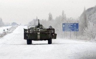 Под Дебальцево боевики подорвали БТР с силовиками