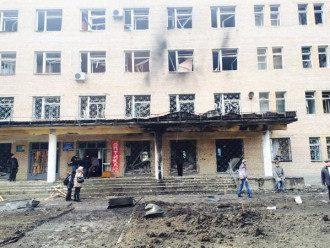 в Донецке была обстреляна больница и детсад.