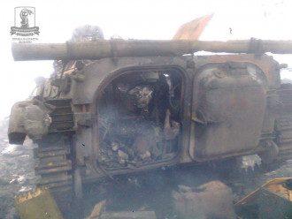 Уничтоженный БМП боевиков, иллюстрация