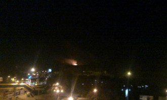 Ночной взрыв в Донецке