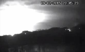 Взрыв в Донецке. Время на веб-камере выставлено неправильно