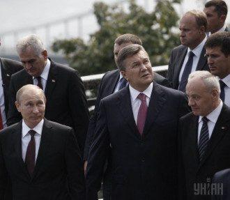 Путин и Янукович на Владимирской горке