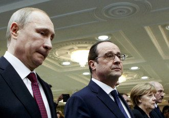 Владимир Путин и Олланд