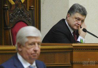 Виктор Шокин и Петр Порошенко в Раде
