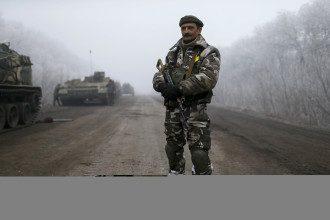 Украинские силовики под Дебальцево, иллюстрация