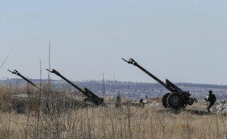 Украинские орудия под Дебальцево