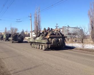 Выход войск из Дебальцево, иллюстрация