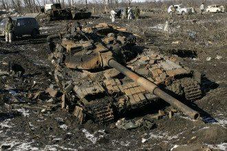 Побитый танк, иллюстрация