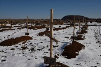 Кладбище боевиков на Донбассе, иллюстрация