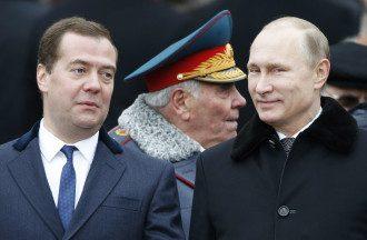 Дмитрий Медведев и Владимир Путин, иллюстрация