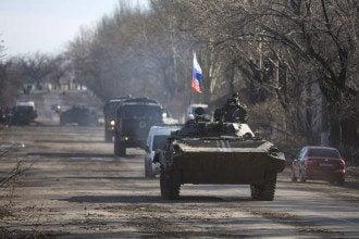 Российские танки на Донбассе, иллюстрация