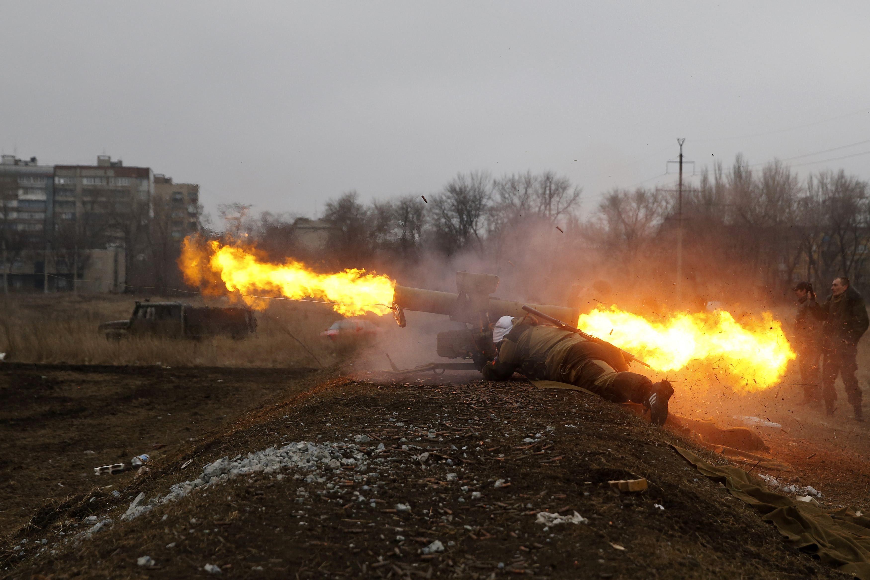 Боевики под Донецком, иллюстрация