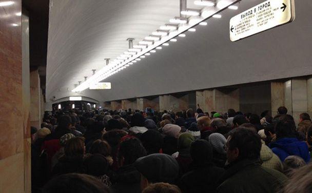 Пробки в метро