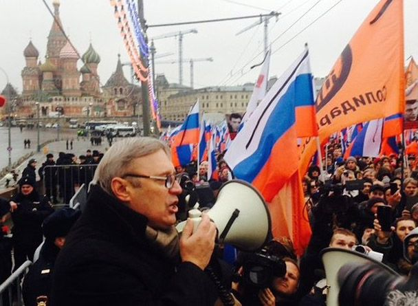 Михаил Касьянов на марше памяти Немцова