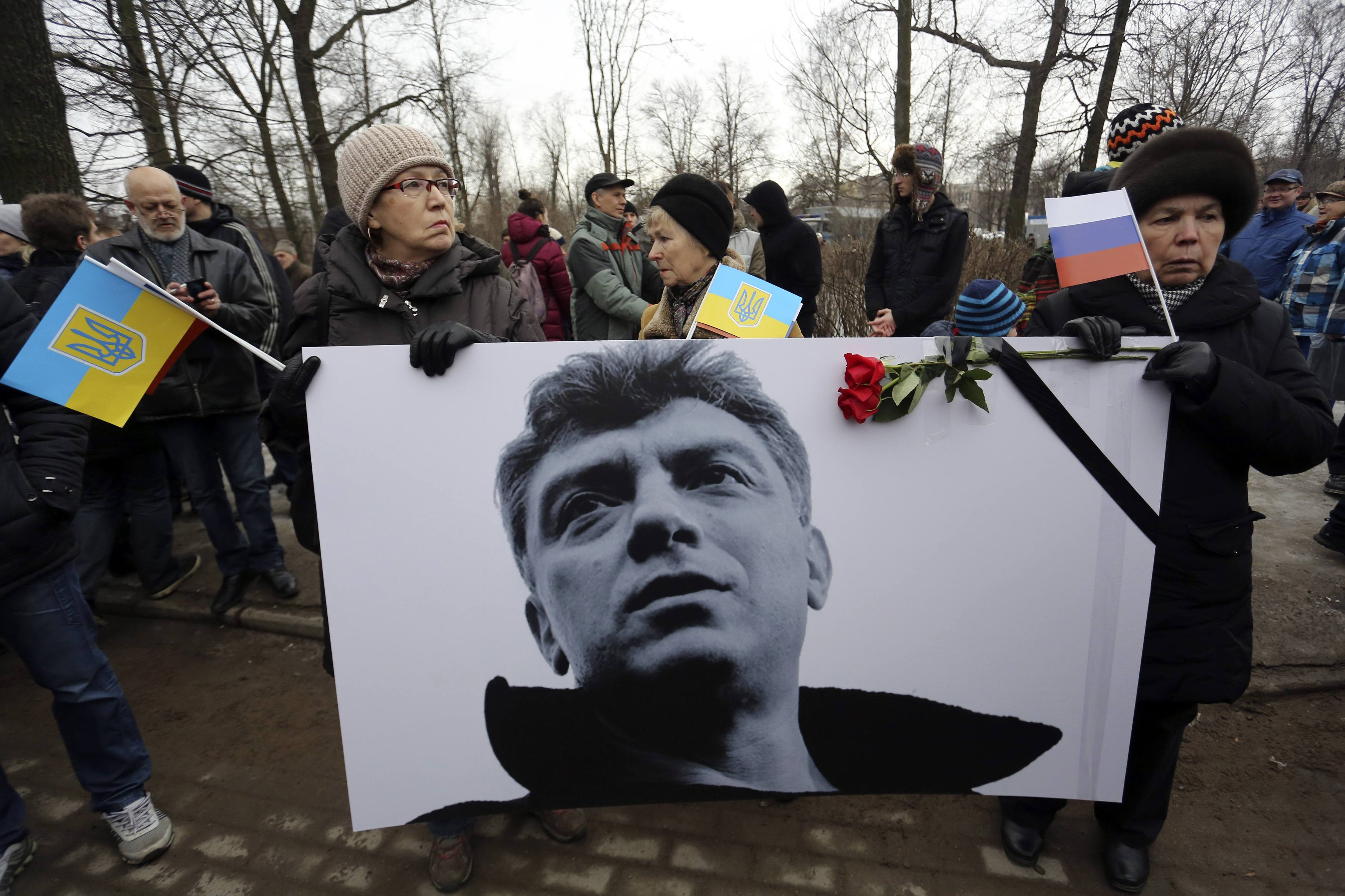 Прощание с Немцовым в Москве, иллюстрация