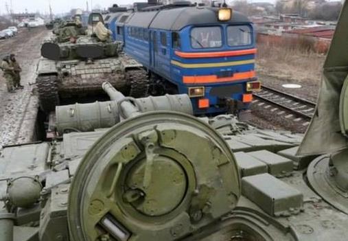 Российские танки на подъезде к Украине, иллюстрация
