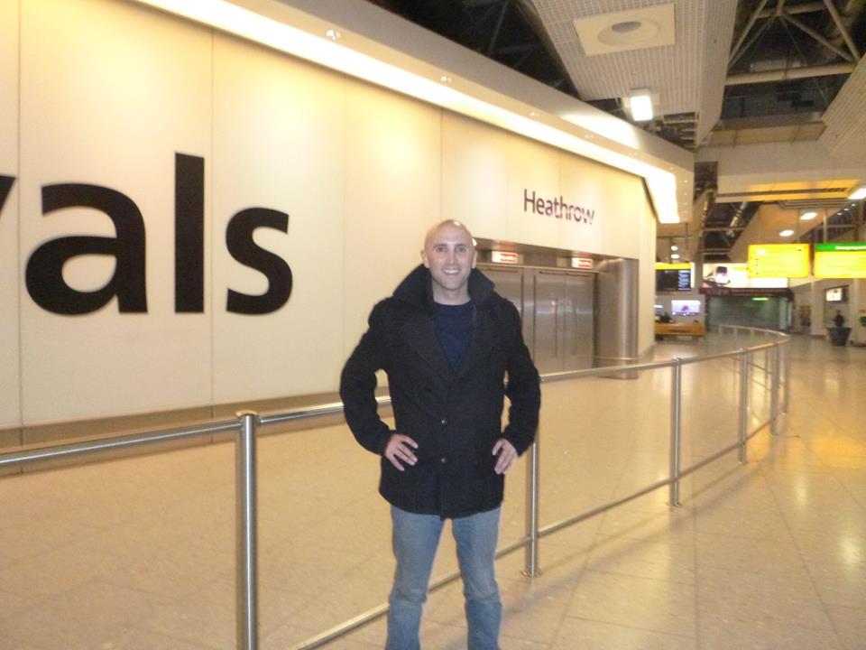 Филлипс в аэропорту Лондона