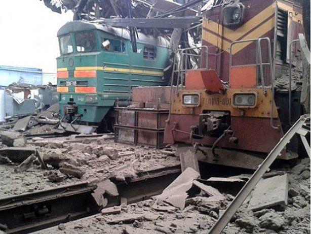 Железнодорожный узел в Дебальцево