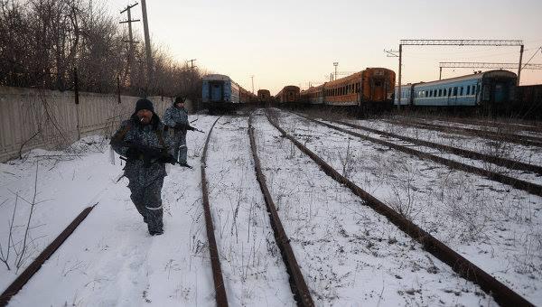 Боевики в Дебальцево