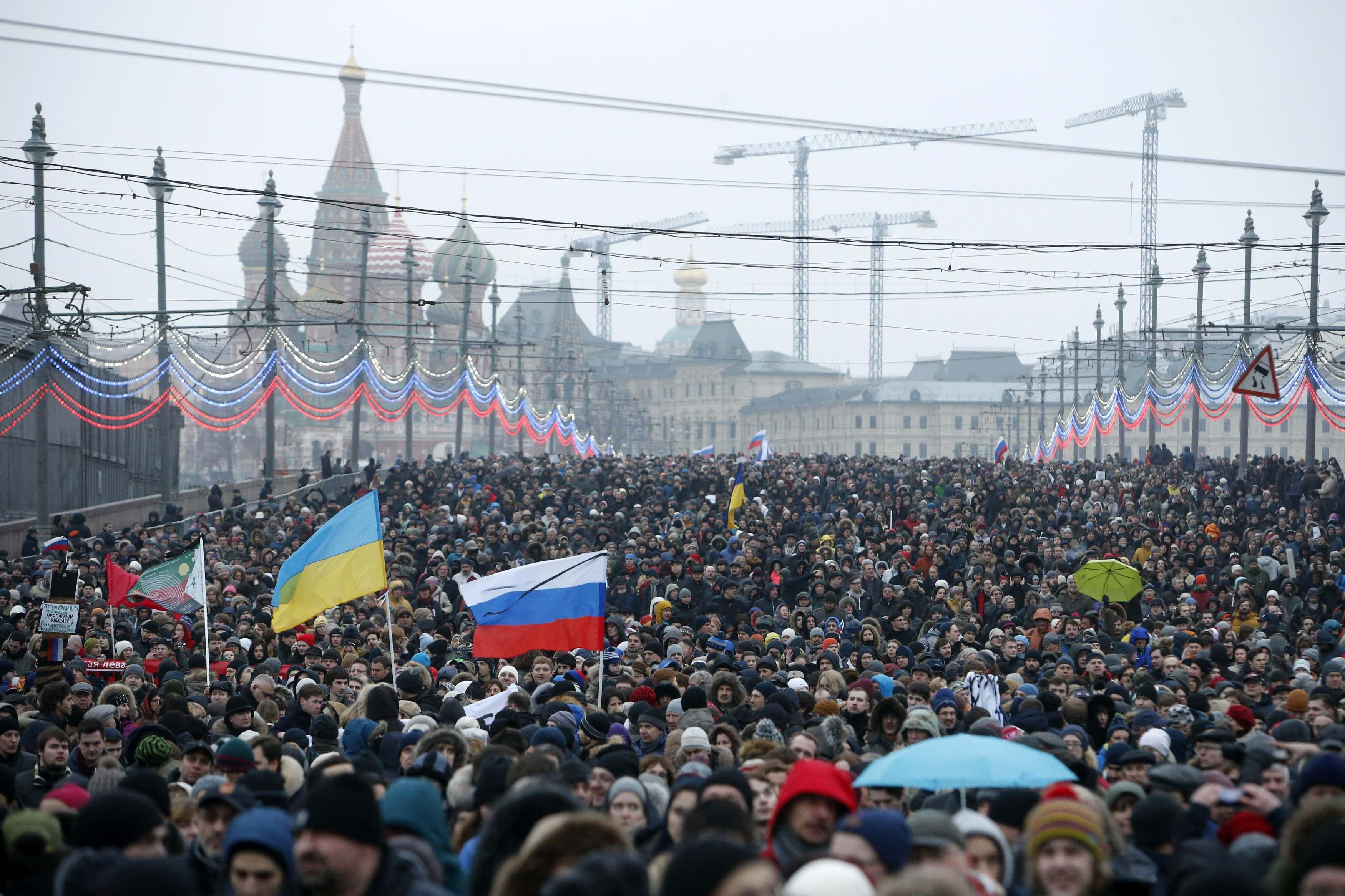 Акция в память о Немцове